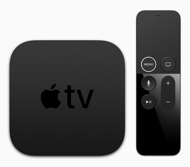 apple tv 4k remote topdown